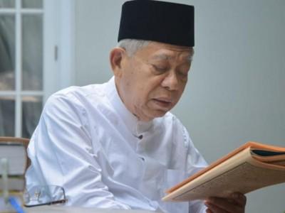Kiai Ma'ruf Maafkan Pengunggah Foto Wapres-Kakek Sugiono