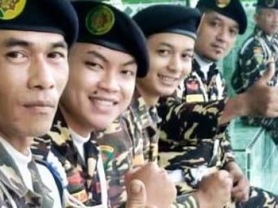Sejumlah Perwira Tinggi Satkornas Banser Latih Ratusan Kader Muda di Kediri