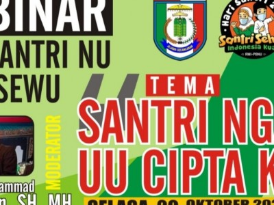 Santri Ngaji UU Cipta Kerja Warnai Hari Santri di Kabupaten Pringsewu