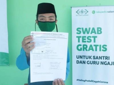 NU Care Adakan Tes Swab di Pesantren Yasina Bogor