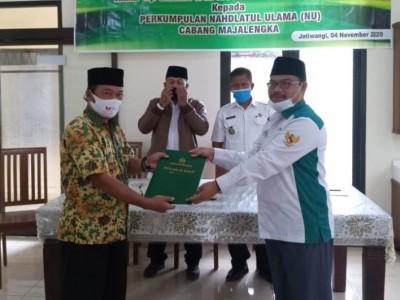 Nahdliyin Jatiwangi Majalengka Bakal Miliki NU Center Berkat Tanah Wakaf