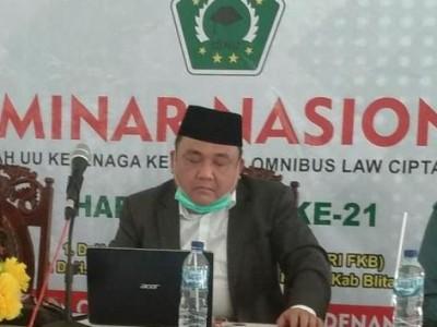 Pemberlakuan Omnibus Law Dikaji oleh ISNU Kabupaten Blitar