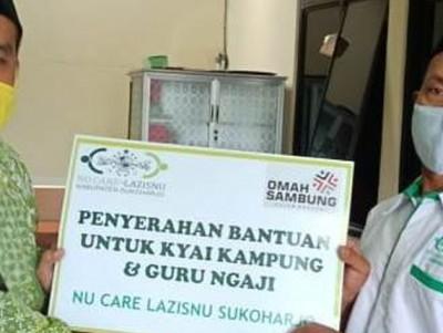 Ratusan Kiai Kampung dan Guru Ngaji Sukoharjo Terima Bantuan Sembako dari LAZISNU
