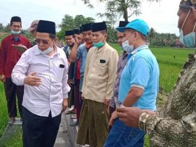 Cari Lahan Organik, LPPNU Jateng Cek dan Analisis Tanah Pertanian di Cilacap