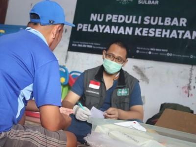 PBNU Beri Pelayanan Kesehatan Gratis bagi Korban Gempa di Sulbar