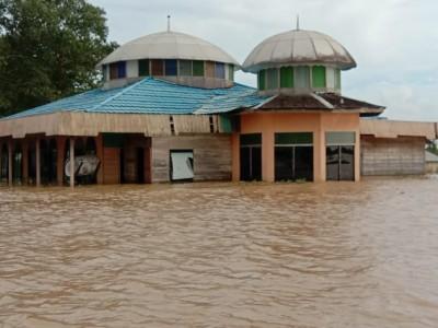 Kondisi Banjir Kalsel: Air Meninggi di Wilayah Kabupaten Hulu Sungai Utara