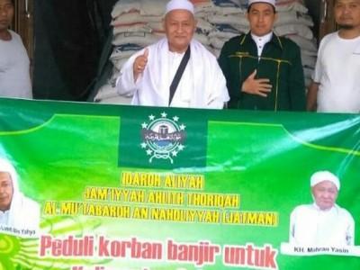 Habib Luthfi Sumbang 4 Ton Beras untuk Warga Terdampak Banjir di Kalsel