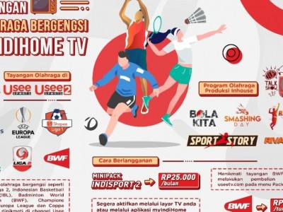 Telkom Kembali Hadirkan Tayangan Olahraga Bergengsi melalui Usee Sports di IndiHome TV
