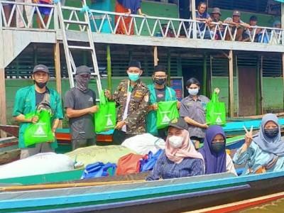 Banser Seruyan Tempuh Ratusan Kilometer Bantu Korban Banjir Kalsel