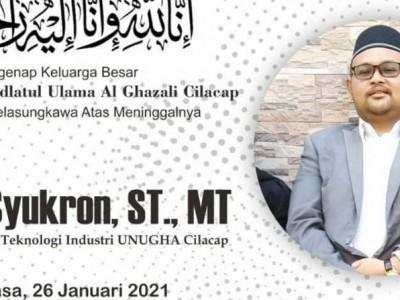 Innalillahi, Dekan FTI Unugha Cilacap Amin Syukron Wafat