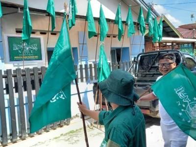 Palangkaraya 'Hijau' dengan Gerakan 98 Juta Bendera NU