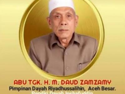 Innalillahi, Ulama Kharismatik Aceh Tgk HM Daud Zamzami Berpulang