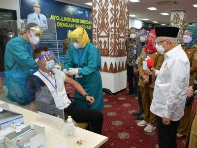 Kunjungi Lampung, Wapres KH Ma'ruf Amin Minta Percepatan Vaksinasi
