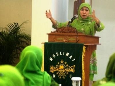 Khofifah Tegaskan Peran Penting Kader Muslimat NU Tanggulangi Covid-19
