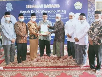 Direktur PD Pontren Resmikan Marhalah Tsaniyah Mahad Aly MUDI Mesra Bireuen