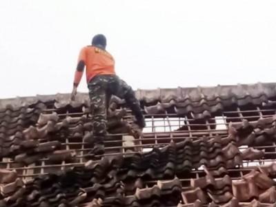 Gempa Guncang Pronojiwo Lumajang,  Banser  Turun Tangan