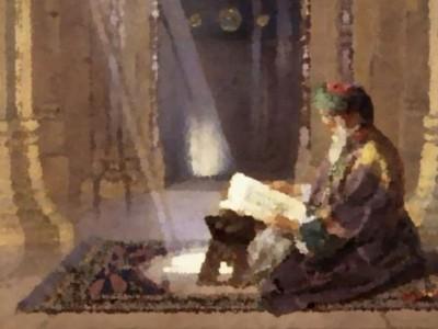 Ibrahim at-Taimi Menutup Mushafnya saat Kedatangan Tamu