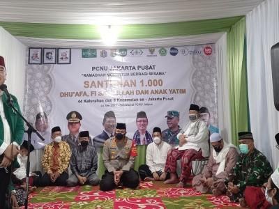 PCNU Jakarta Pusat Santuni 1.000 Anak Yatim dan Duafa