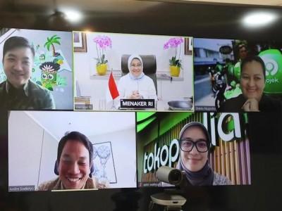 Kemnaker Ajak Gojek Tingkatkan Kerja Sama Perluasan Kesempatan Kerja