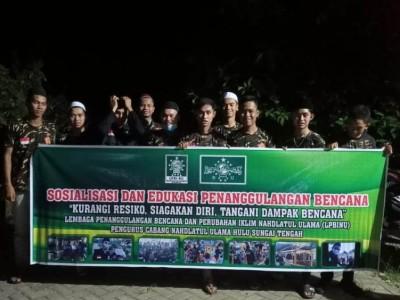 LPBINU Hulu Sungai Tengah Sosialisasi Penanggulangan Bencana