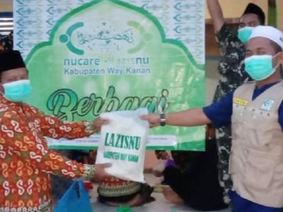 LAZISNU Way Kanan Bagikan Paket Sembako Selama Ramadhan 1442 H