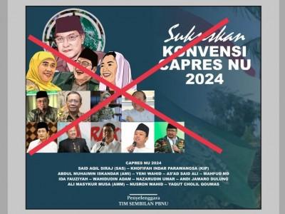 Poster dan Poling Konvensi Capres NU 2024, PBNU: Itu Hoaks