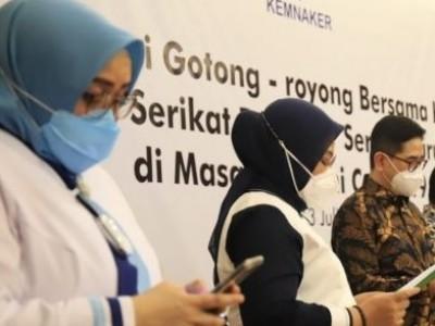 Kemnaker, Apindo, Kadin, dan Pekerja Gelar Deklarasi Gotong Royong Hadapi PPKM Darurat