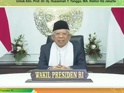 Testimoni Wapres Kiai Ma'ruf tentang Sosok Prof Huzaemah