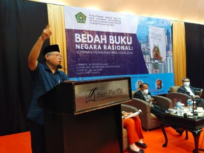 Buku 'Negara Rasional' tentang Pemikiran Ibnu Khaldun Dibedah Puslitbang Kemenag