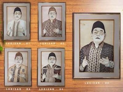 Lima Lukisan Gus Dur Berhasil Dilelang Rp280 Juta