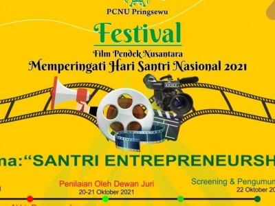 Awali Hari Santri 2021, NU Pringsewu Gelar Festival Film Pendek