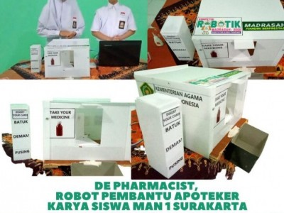 'De Pharmacist', Robot Pembantu Apoteker Buatan Siswa MAN Surakarta