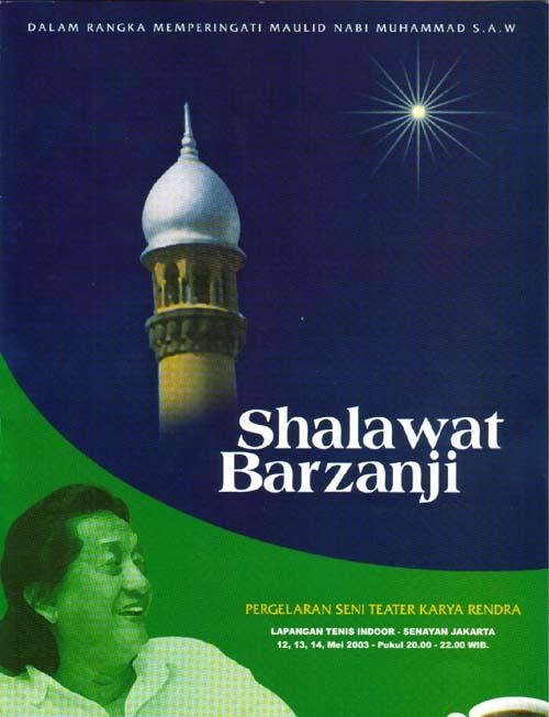 Sholawat Barzanji Rendra untuk Meneladani Rasul